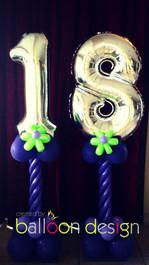 18th Birthday Number Pillars