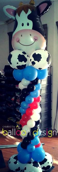 Cow Themed Pillar