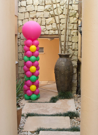 Flower Pattern Pillar