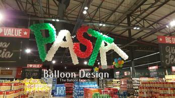 Pasta Balloon Lettering