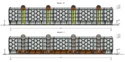 Фасады многоквартирного жилого дома