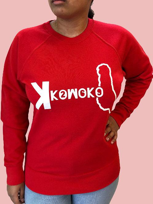 Sweat shirt - Girl Of Komoko - rouge