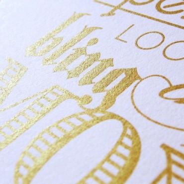 Metallic goud op papier