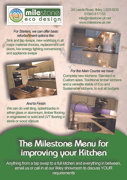 The Milestone Menu - Showroom Version 1