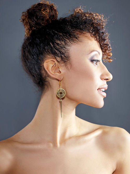 Coined Chain Earring