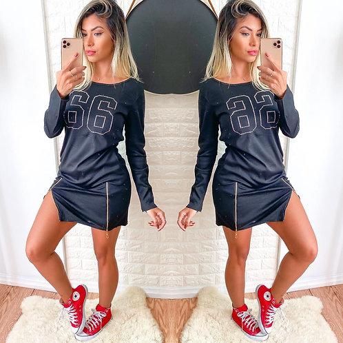 Vestido Sport detalhe zíper