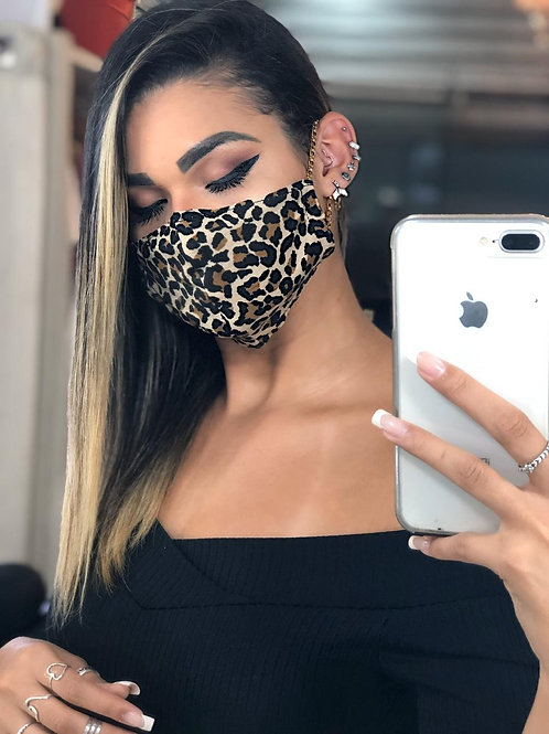 Máscara luxo corrente onça