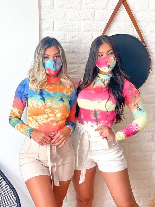 Body + máscara tie dye