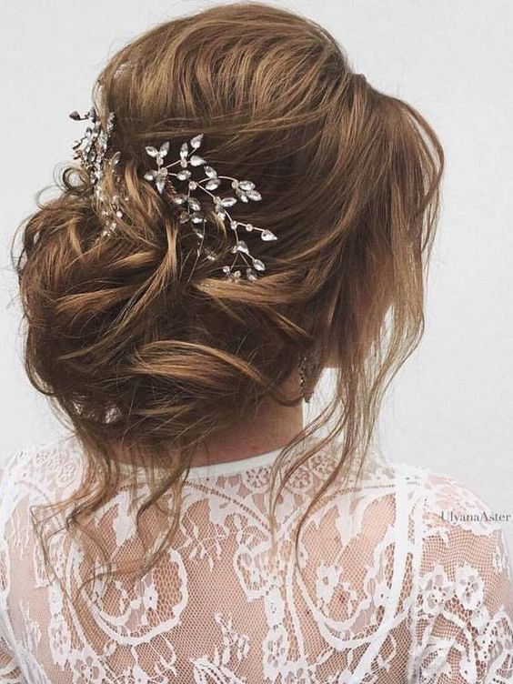 pinterest-hair-inspiration-brunette-updo-piecey-waves-bridal-hairstyle