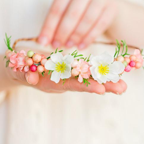 peach-pink-floral-crown-handmade-art-craft-richmond-va-flowers
