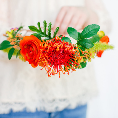 tropical-orange-floral-crown-handmade-art-craft-richmond-va-flowers