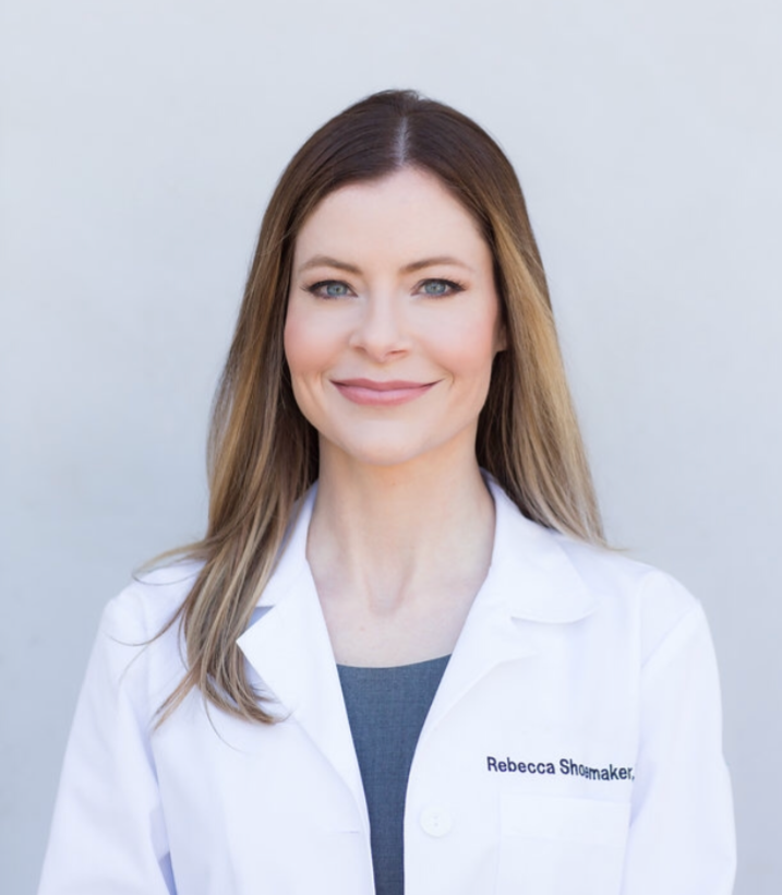medical doctor headshot with light, natural airbrushed makeup
