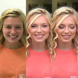senior portrait fresh pink makeup