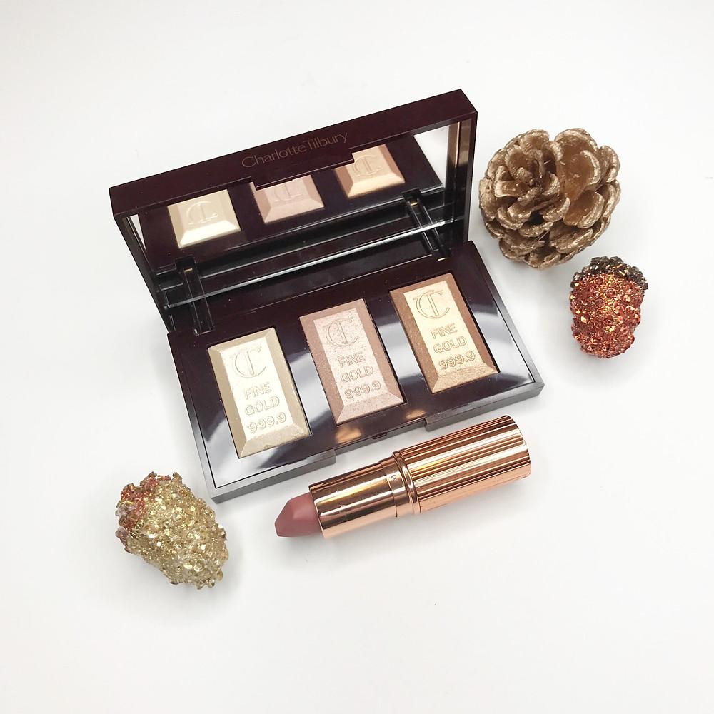 charlotte tilbury bar of gold highlight pillow talk matte lipstick richmond makeup artist review blogger