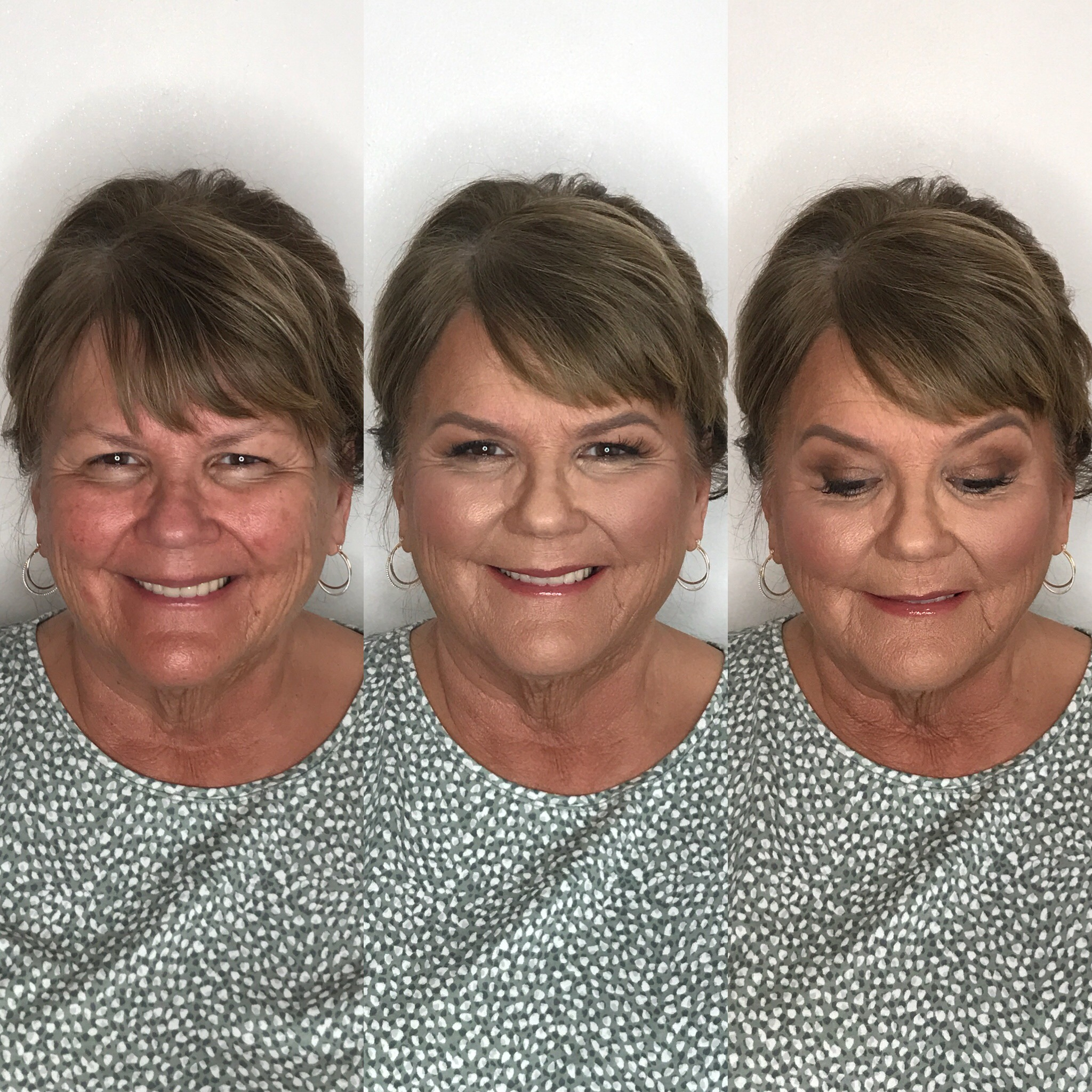 mature makeup for mother of bride