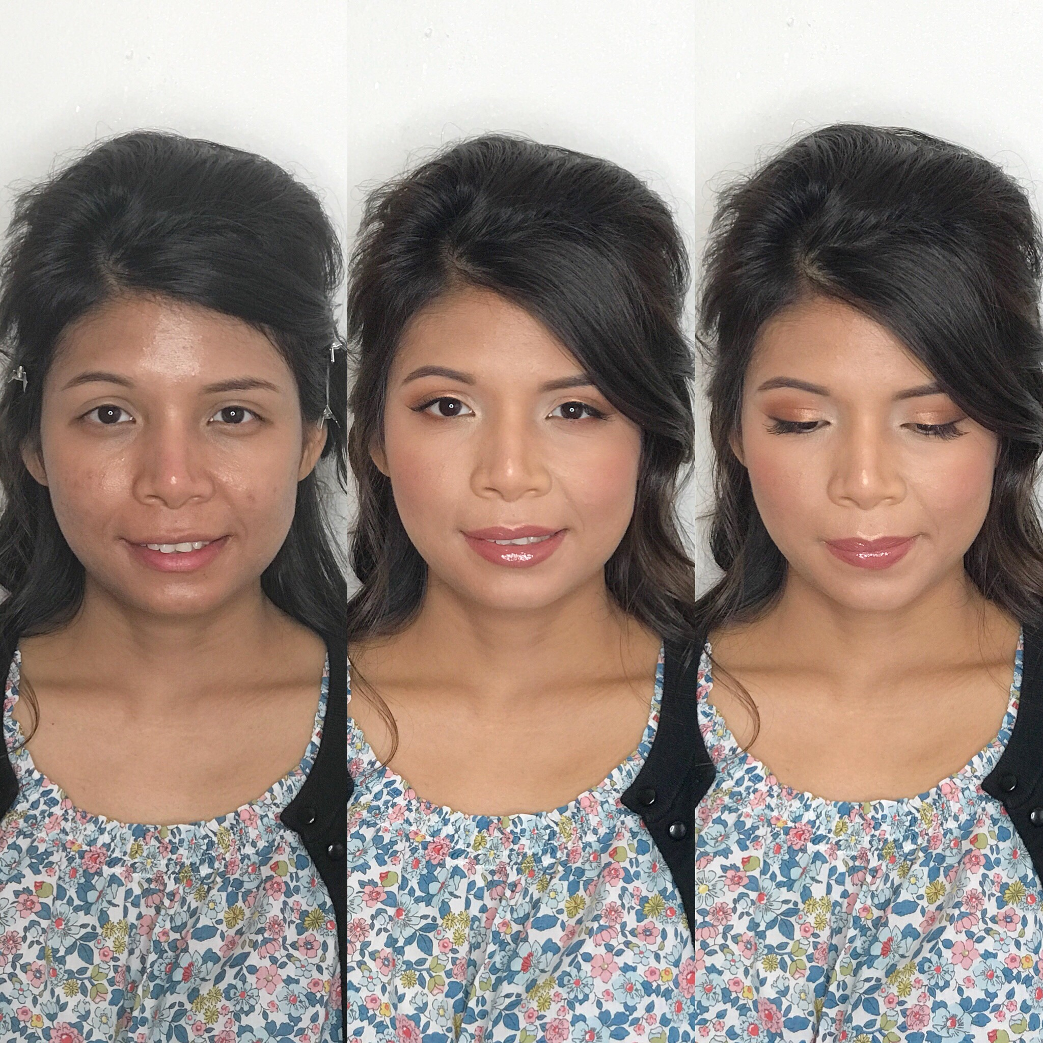 asian bride natural peach makeup