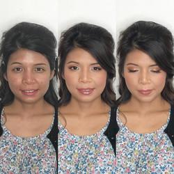 asian bride natural peach makeup