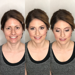 middle aged beauty bridal makeup