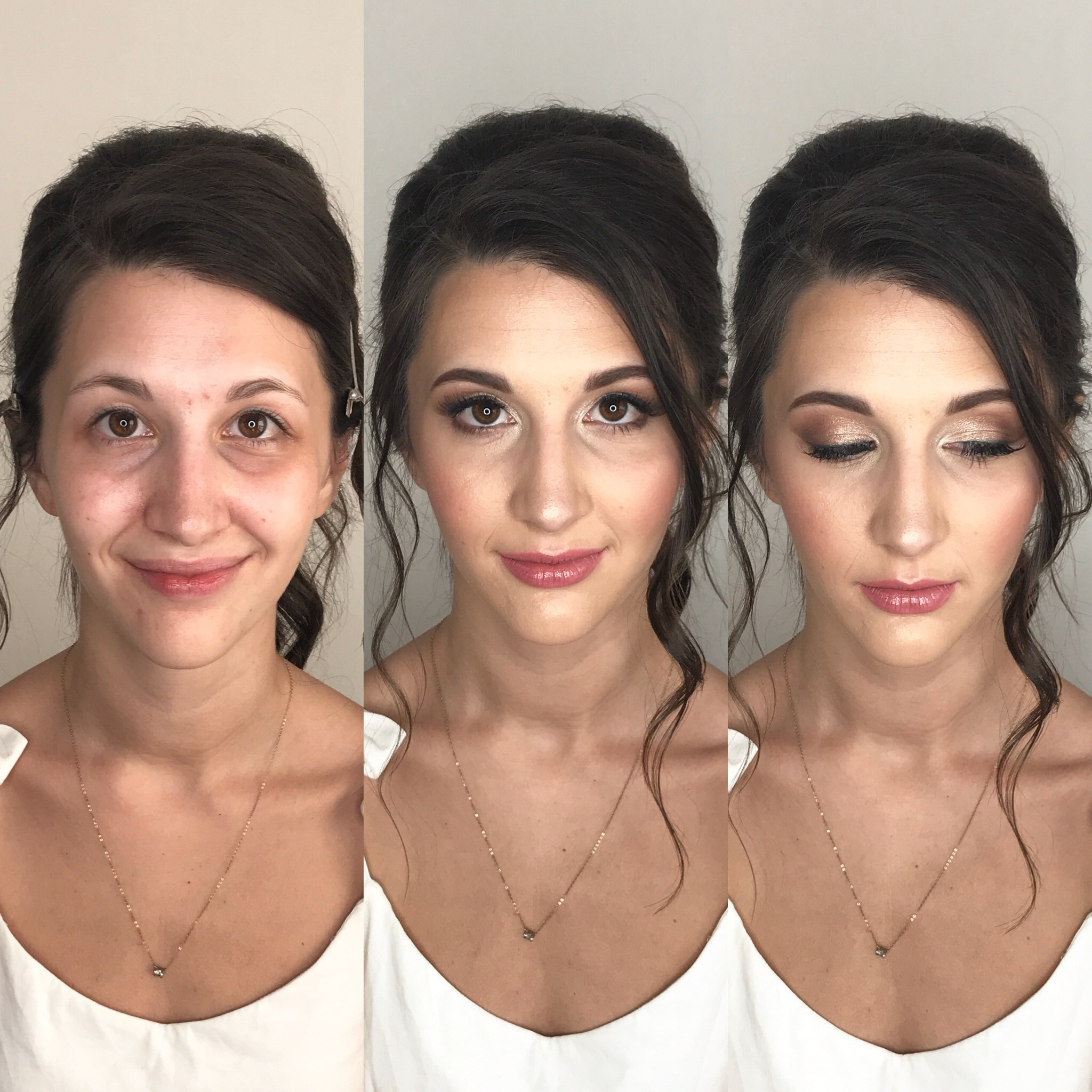 clean natural makeup for mixed bride