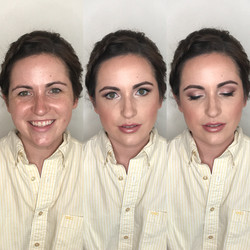 bridal transformation with pink lips