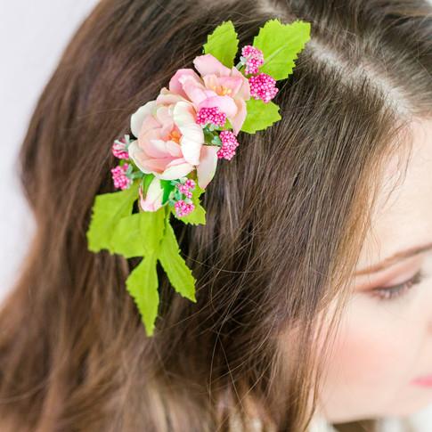 pink-green-bridal-floral-comb-handmade-art-craft-richmond-va-flowers