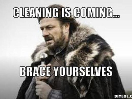 Holiday Cleaning is coming...