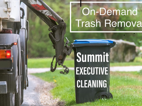 Summit Executive Cleaning offers on-demand, concierge trash removal! Let us handle your dirty work.
