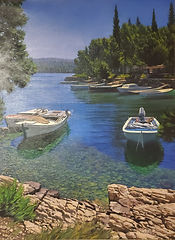 Zillic, Silent Bay 32x24 Oil on Canvas.j