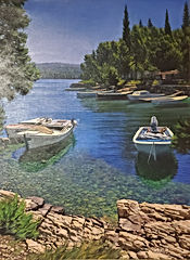 Zillic, Silent Bay 32x24 Oil on Canvas.j