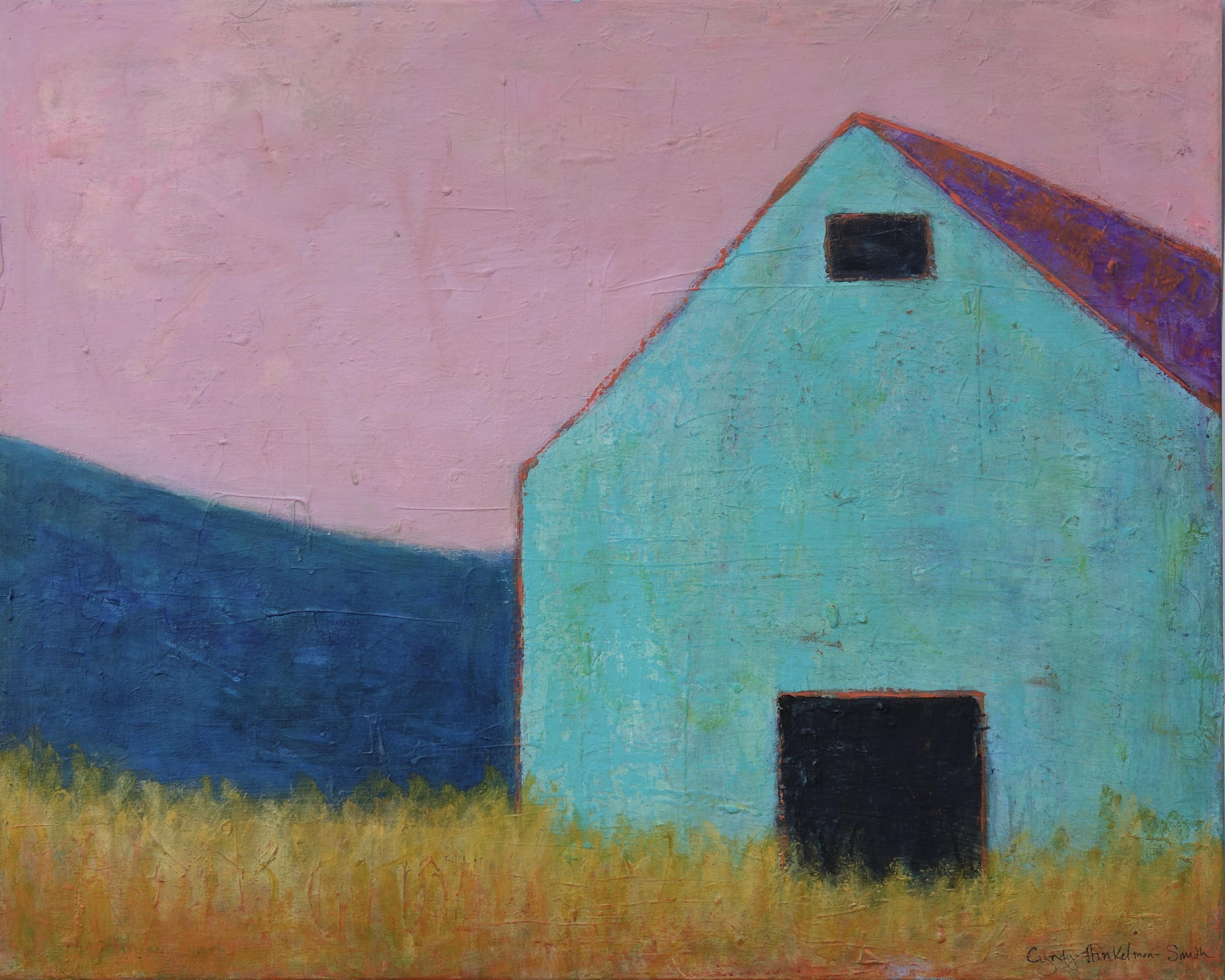Bright Turquoise Barn