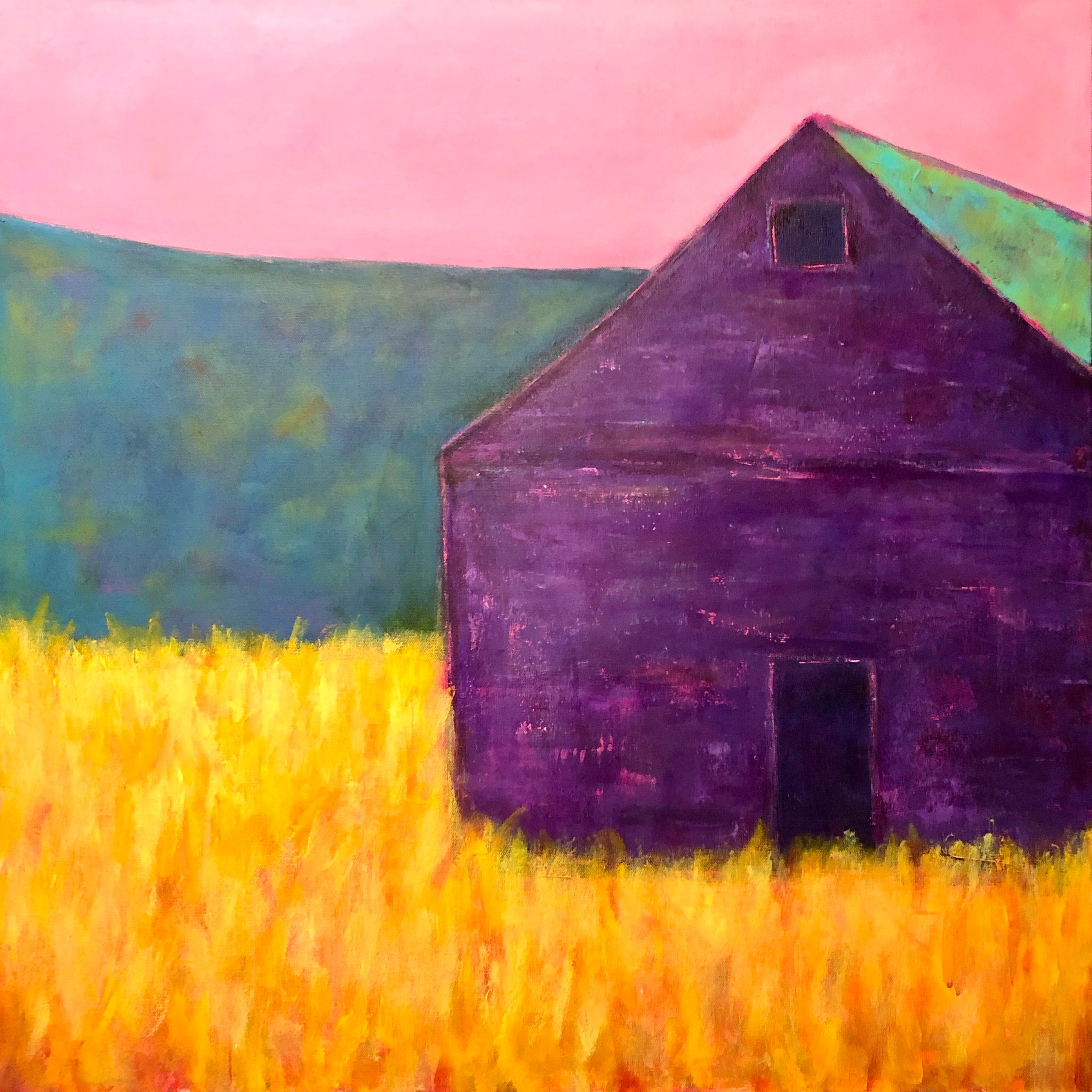 Vibrant Purple Barn   30 x 30