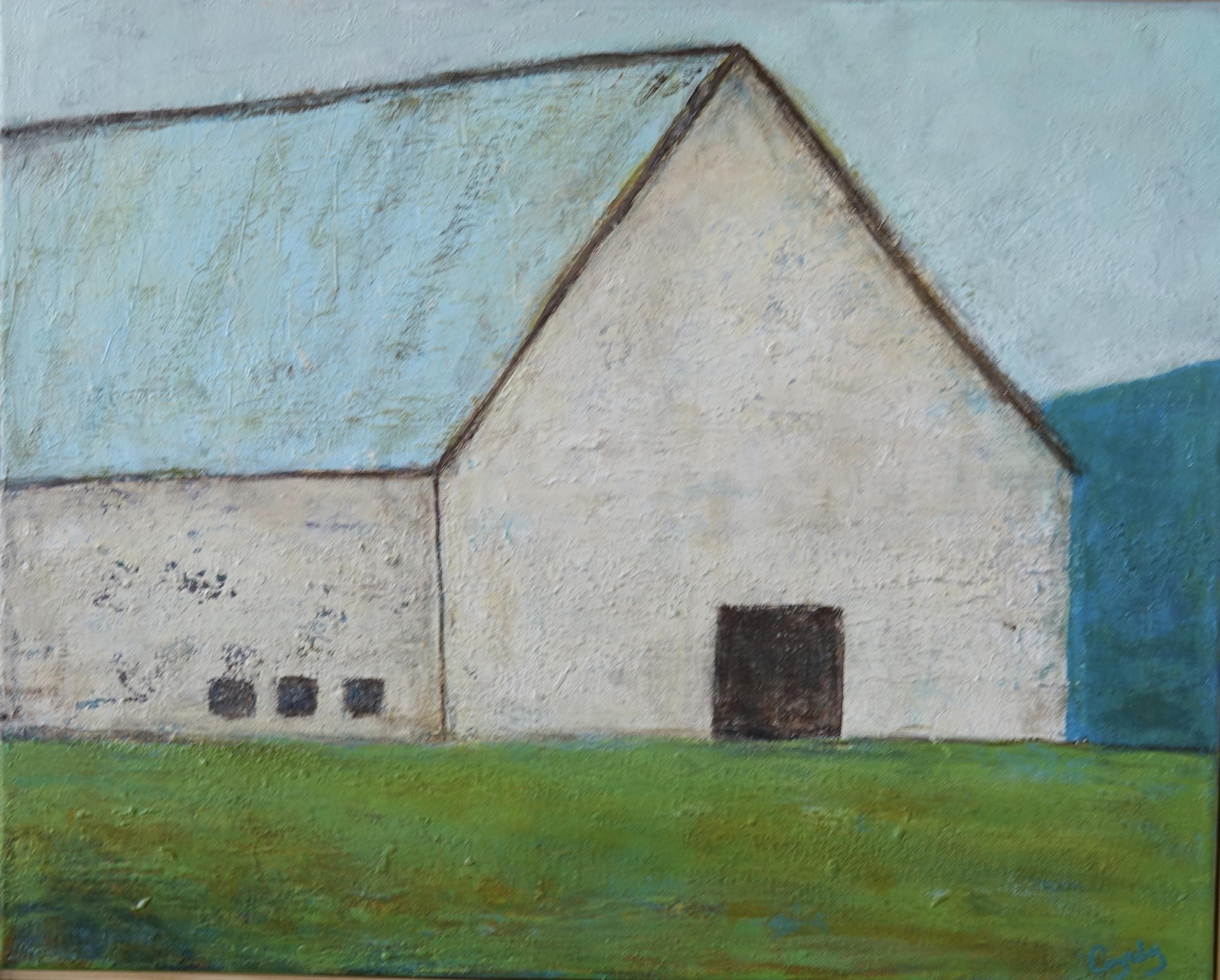 White Barn, Blue Roof