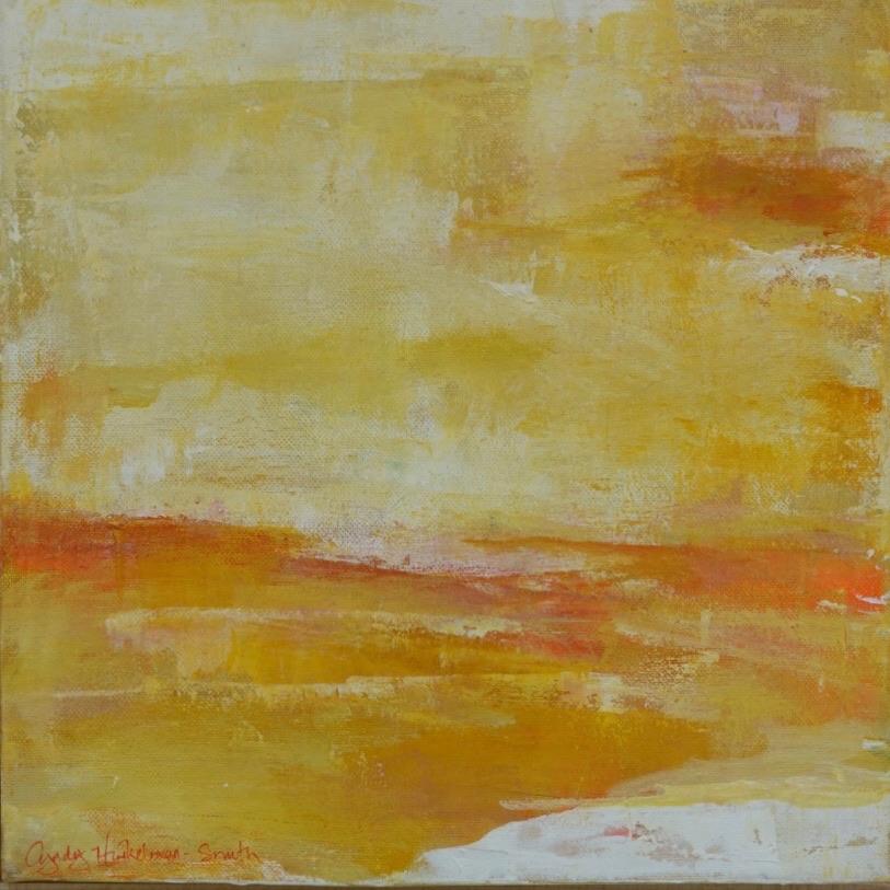 Glow  12 x 12 Acrylic on Canvas, Birch F