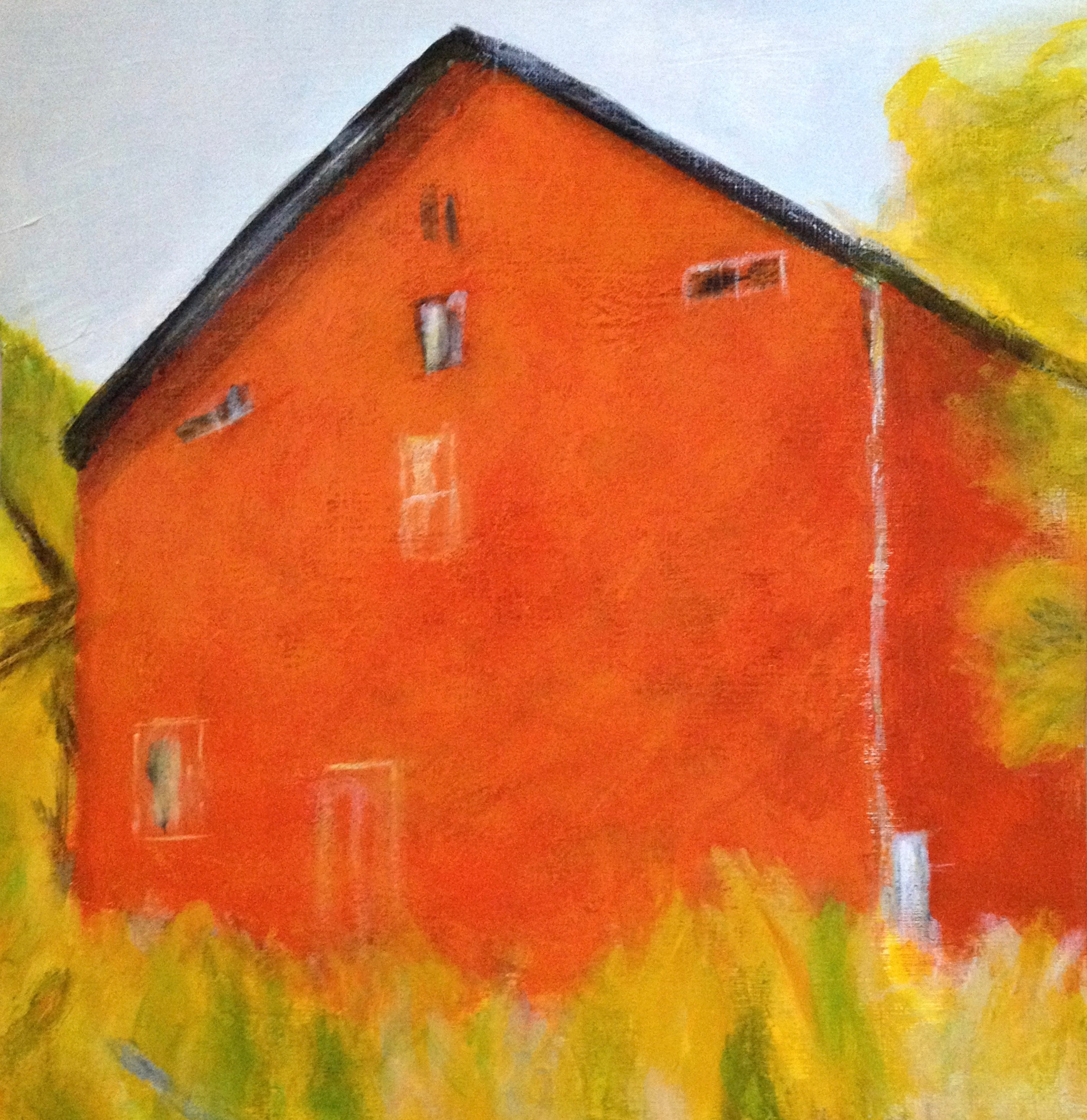Wolf Kahn Orange Barn Study