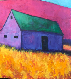 Magenta Hill Purple Barn