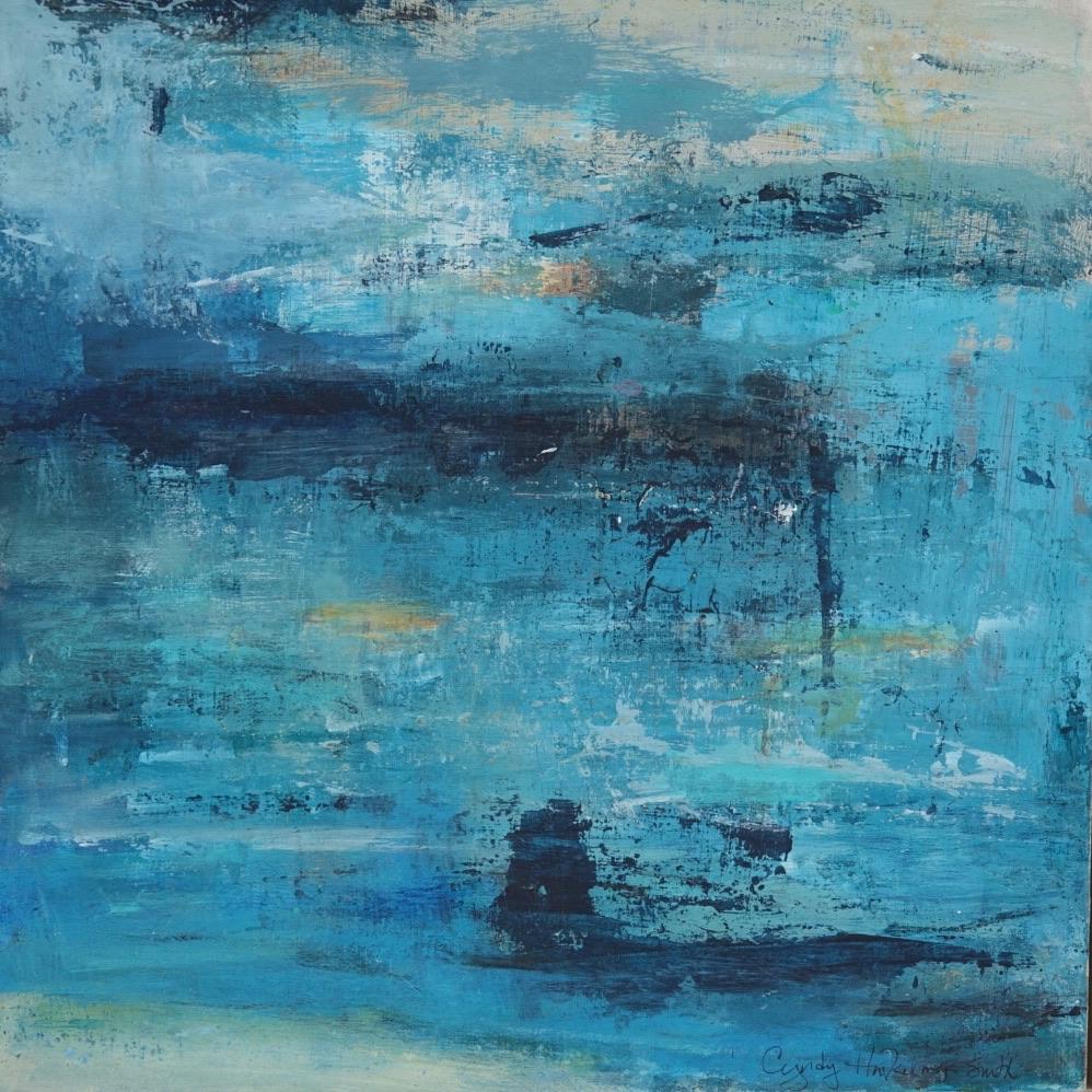 Blue Bayou  12 x 12 Acrylic on Wood, Bir