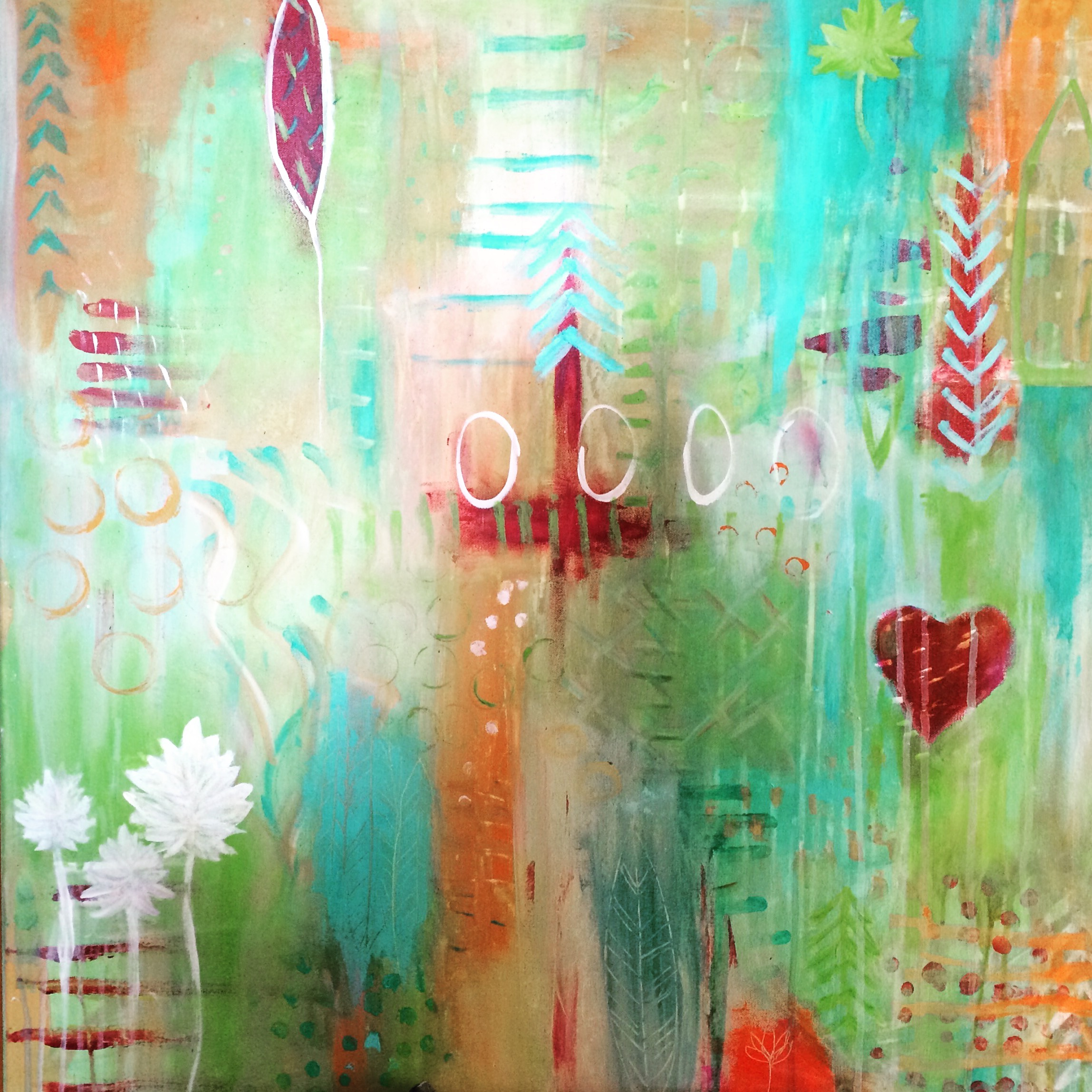 Turquoise Abstract - Sold