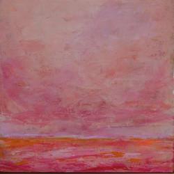Rosy Day  12 x 12 Acrylic on Hardboard,