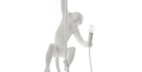 SELETTI 'MONKEY LAMP' RESIN LAMP Cm.37x25 h.76,5 - WITH ROPE