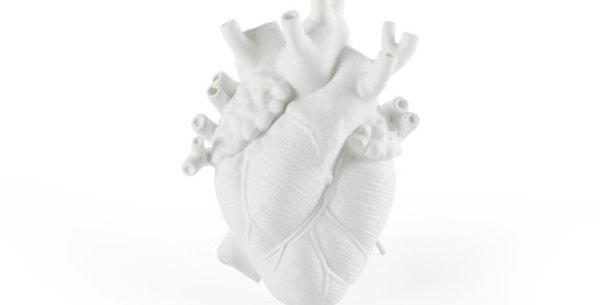 SELETTI 'LOVE IN BLOOM' PORCELAIN HEART VASE Cm.16,5x9 h.25