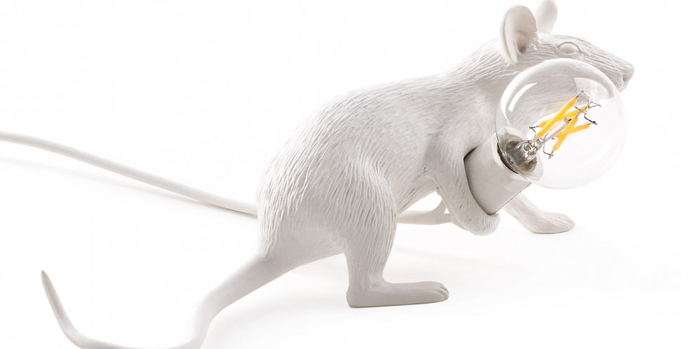 SELETTI Mouse Lamp Lop Lying Down'