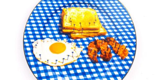 SELETTI 'TOILETPAPER' PORCELAIN DINNER PLATE ø Cm.27