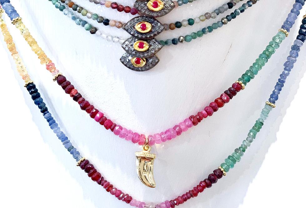 """BY SARAH -Rainbow necklace """"LUCKY EYE""""-"""