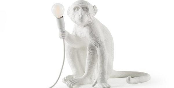 SELETTI Monkey Lamp Sitting White