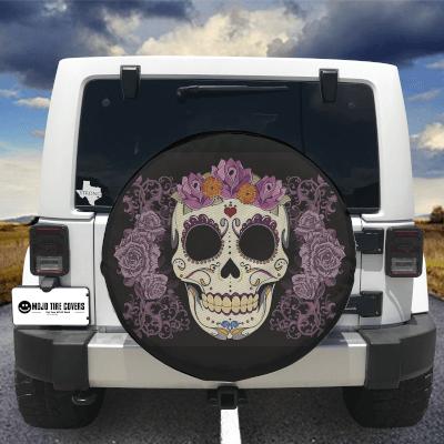 MOJO Tire Cover - Sugar Skull w/ Roses