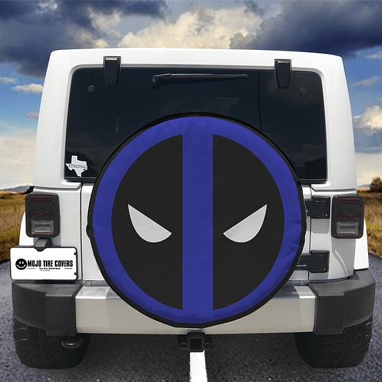 MOJO Tire Cover - Blue Mask