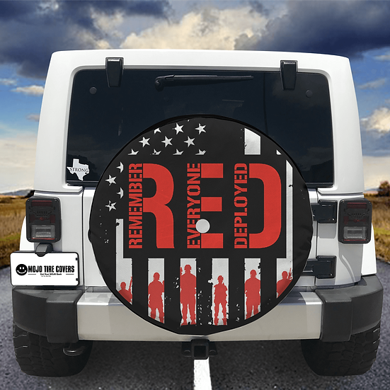 MOJO Tire Cover - Remember Everyone Deployed