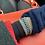 Thumbnail: Deep-blue Freshwater Pearl & Japanese glass wrap bracelet