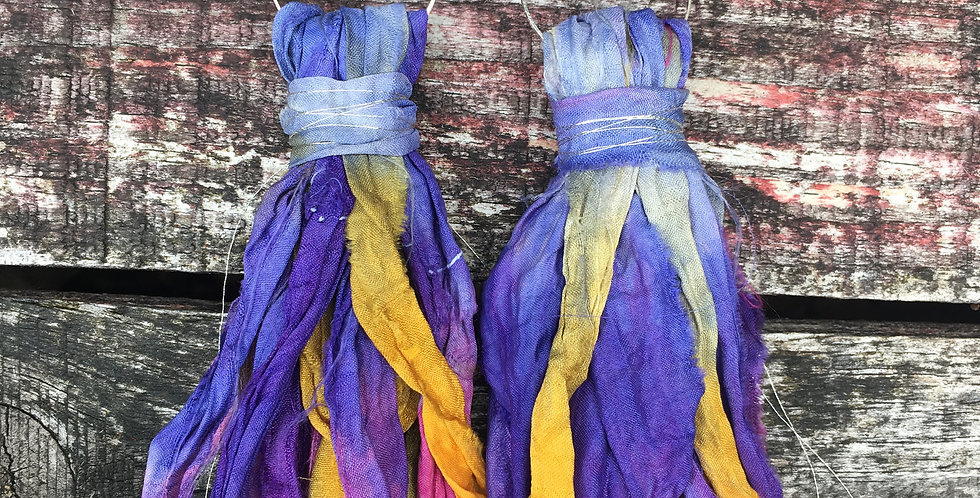 'Iris' Recycled Sari-Silk earrings