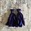 Thumbnail: 'Midnight blue' sari-silk earrings